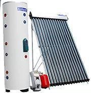 66 Gallon 24 Vacuum Tube Solar Water Heater Dual Coil Tank System SRCC