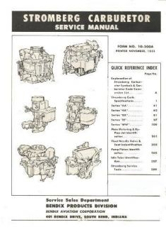 1936 1956 STROMBERG CARBURETOR SERVICE REPAIR AA 4A BX EE WW