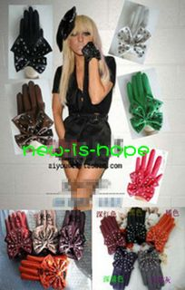 LADY Rivets and Butterfly GAGA Fashion ladies girls soft Leather