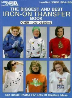 Iron on Transfer Book by Leisure Arts Staff 1991, Hardcover