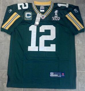 Aaron Rodgers Green Bay Packers Green On Field Authentic Jersey SIZE