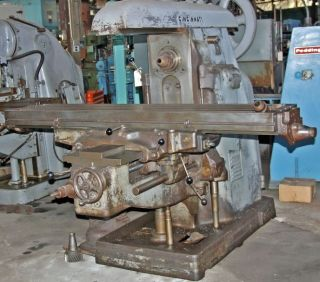 CINCINNATI #4 HORIZONTAL MILLING MACHINE DIAL TYPE 15 HP w/VERTICAL