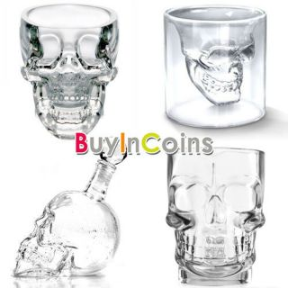 Home Bar Crystal Skull Head Vodka Shot Glass Cup Drinking Ware