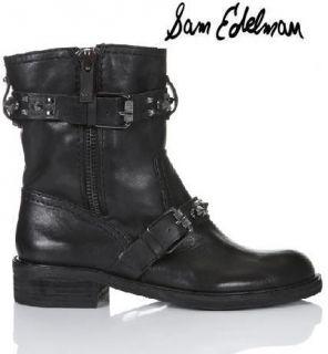 Sam Edelman Adele Womens Black Leather Studded Boot