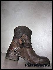 MOMA Womens Shoes Ankle Boots Rihana Brown Leather Brown Vintage New