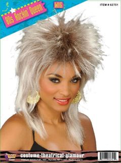 80s Rockin Queen Tina Turner Whitney Houston Wig Halloween Costume