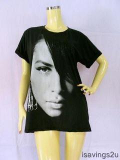 AALIYAH R&B T shirt, URBAN POP Queen Soul Black S M & L
