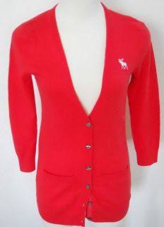 ABERCROMBIE & FITCH Womens Coral Cardigan Sweater Sizes S & L