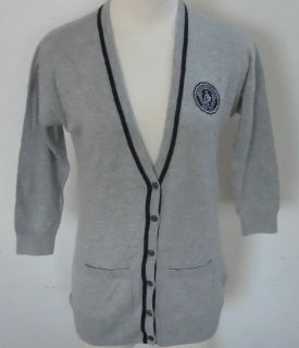 ABERCROMBIE & FITCH Womens Gray 3/4 Sleeve Cardigan Sweater Sizes S M