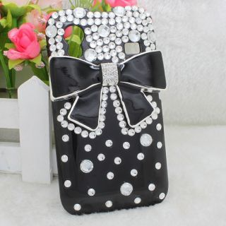 Bling Bow Diamond Hard Back Case Cover For Samsung Galaxy Ace S5830