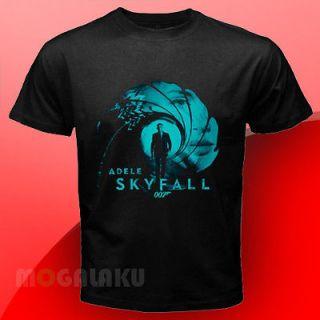 Adele Skyfall Theme Song James Bond Black T Shirt Size S to 3XL