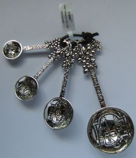 Grapes Design Heavy Metal Measuring Spoons Ganz NEW )