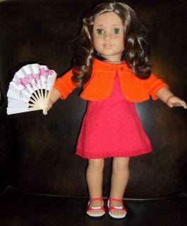CHERRY BLOSSOM mini paper hand FAN fits AMERICAN GIRL 18 doll Kanani