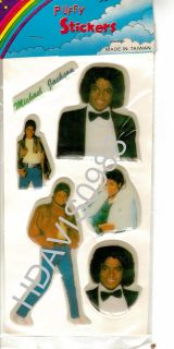 Vintage Michael Jackson Puffy Stickers Brand New Sealed
