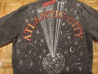 Tony Alamo TRUMP PLAZA ATLANTIC CITY Denim Jean Jacket XL Vtg