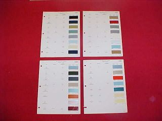 LINCOLN MUSTANG MERCURY FAIRLANE COMET CAR COLOR PAINT CHIPS CHART 65