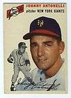 1954 Red Man Chewing Tobacco card 21 Johnny Antonelli No TAB VG EX