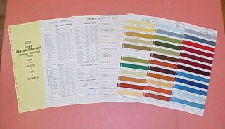 CAR MUSTANG II LINCOLN MERCURY COLOR CHART PAINT CHIPS BROCHURE 75