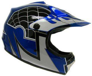 Youth KIDS Motocross Motorcross Dirt Bike ATV MX Off Road Helmet Blue