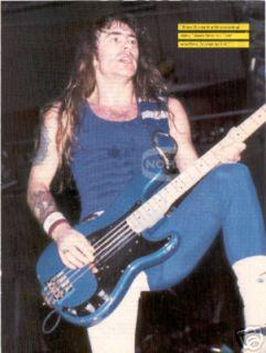STEVE HARRIS magazine PINUP IRON MAIDEN bass player 80s METAL