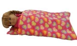 18 DOLL SLEEPING BAG FOR AMERICAN GIRL DOLLS, PINK