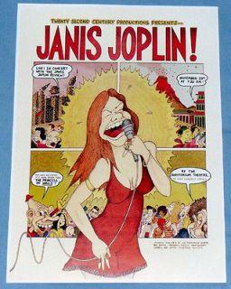Janis Joplin Concert Poster   Chicago 1969   Kozmic Blues Band