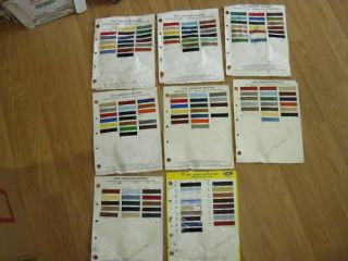 Paint Colour Chip Charts for American Motor Cars Jeeps