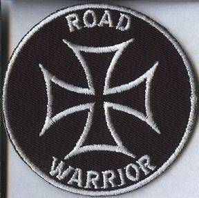 Patch / Biker Patch Iron Cross / Road Warrior / Motorcycle Patch