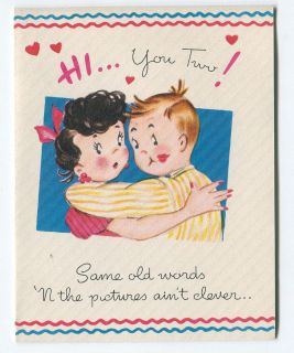 Vintage Wedding Anniversary Greeting Card Unused ca. 1940s