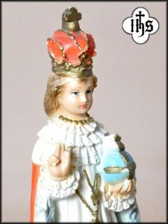 Infant of Prague Holy Child Jesus Altar Statue Antique Nino Praga