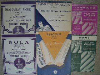Lot Assorted ACCORDION Sheet Music DEIRO Galla Rini