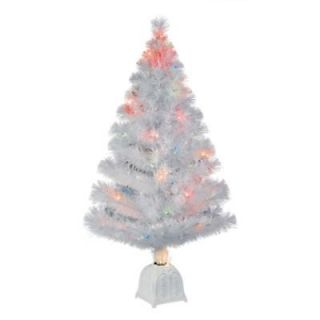 ft White Fibre Optic Color Changing Christmas Tree~VIDEO