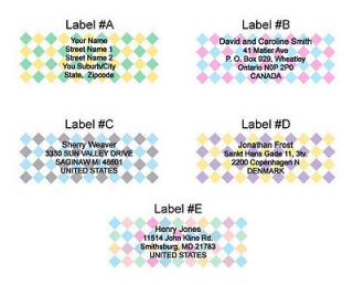 personalized address labels in Printing & Personalization