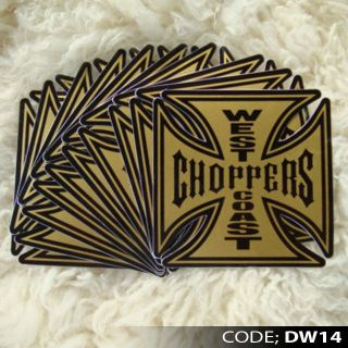 .DW14 WEST COAST CHOPPERS STICKER DIE CUT LAPTOP TRUCK CAR MOTOR BIKE