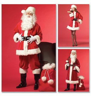 Sewing Pattern M5550 Misses/Mens Santa/Father Christmas Suit Costumes