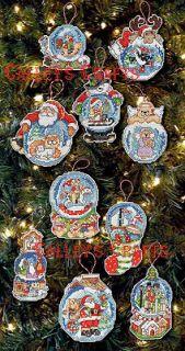 Globe ~ Christmas Ornaments Counted Cross Stitch Kit #86283, 10 Pcs