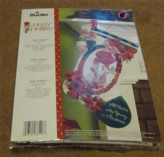 PLAID BUCILLA HOLLY HOBBIE FELT STOCKING KIT 18 NEW IN PACKAGE 86116