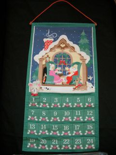 1987 Avon Countdown to Christmas Advent Calendar with the Mouse MIP