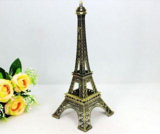 63*63mm Alloy Antique Paris Eiffel Tower Decor Figurine ,15 cm high