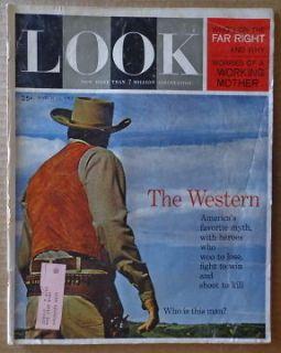 LOOK magazine M 1962 WESTERN James Arness HERB SCORE Cardinal Spellman