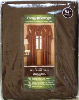 CHRIS MADDEN Mystique Rod pocket Panel Energy Savings 54x 84 Brown