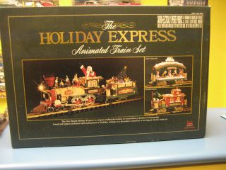 THE HOLIDAY EXPRESS ANIMATED TRAIN SET NEW BRIGHT No.385 G Scale. Very