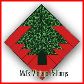 Vintage 1930s Christmas Quilt Pattern ~ Pine Tree