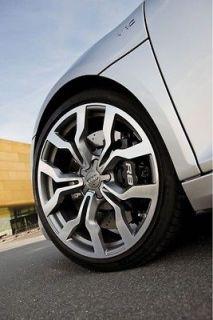 18 Audi R8 Style Wheels Gunmetal Machine Finish Rims fits VW Sedan