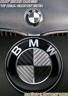 BMW Hood Roundel Emblem Badge (Carbon) 3 Series (Fits 2004 BMW 325i)