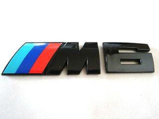 BMW M6 Black Chrome Trunk Emblem E24 E63 E64 F12 F13 Mtech