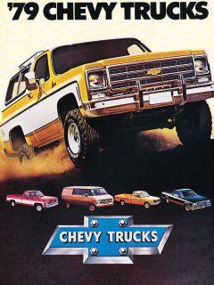 Chevrolet Truck Original Sales Brochure Catalog   Blazer El Camino
