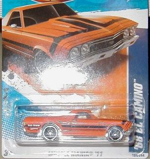 1968 CHEVY EL CAMINO HOT WHEELS 2011 MUSCLE MANIA 4/10 1/64 SCALE
