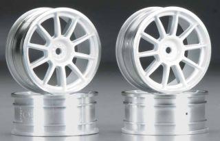 NEW Tamiya Medium Narrow 10 Sp Wheels White/Chrome Rims 84241 NIB