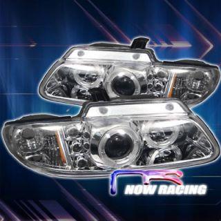 Caravan Halo Projector Headlights   Chrome (Fits Dodge Grand Caravan